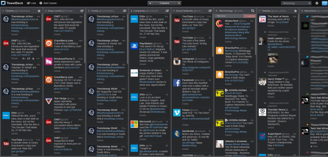 TweetDeck Dashboard