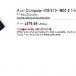 acer 8.1 inch windows 8 tablet description