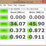 Crystal Disk Mark – Reads and Writes