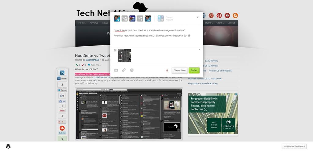 Buffer app extension demo