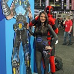 Rage Expo 2013 The Intel Girl and Deadpool