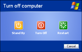 Windows XP turn off computer