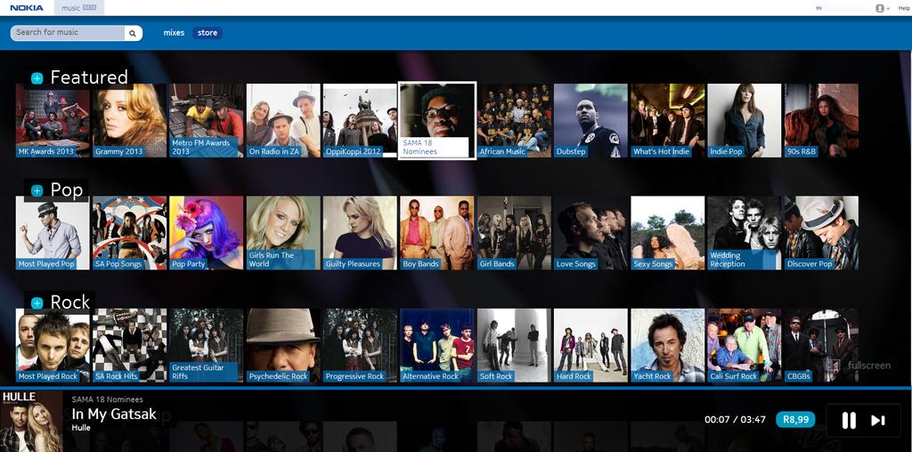 Nokia Music+ Web App